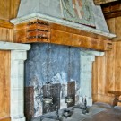 Chillon Castle fireplace