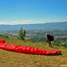 Paraglider at Le Saleve