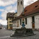Church in the city centre of Lucerne