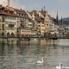 View of Lucerne's city centre and lake