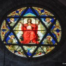 The south Rose Window of the Basel Muenster