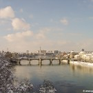 The city of Basel in winter