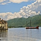 Chillon Castle and Lake Leman view