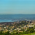 Lausanne city and Lake view