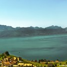 Lake and Mountain view from Lausanne