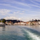 View of Lucerne from the boat