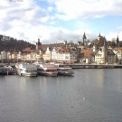 Lucerne webcam with view to the Chapel Bridge and Water Tower
