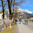 Walking from Titlis foot towards the centre of Engelberg