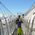 The Glacier Suspension Bridge on Kleintitlis