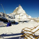Sun Chairs at Zermatt's Ski Station